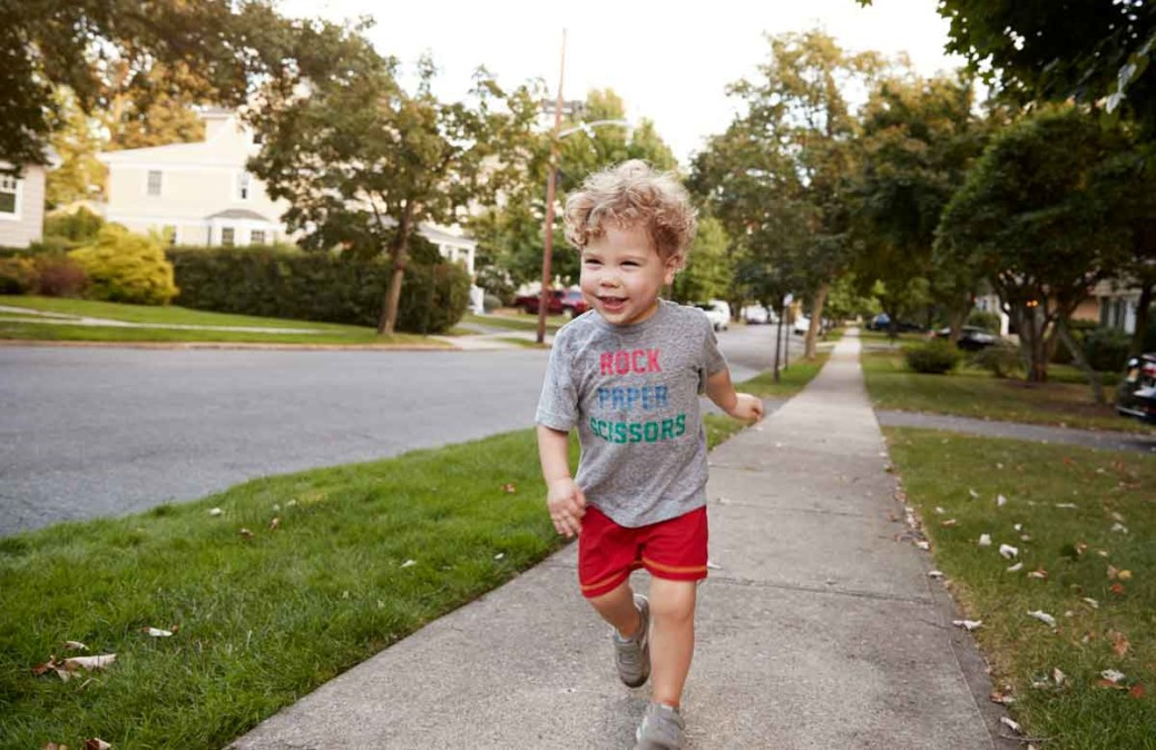 Keep your toddler out of the road